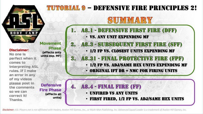 ASL Boot Camp #9: Defensive Fire Principles 2